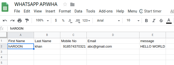 Send WhatsApp Messages from Google Sheets using Google Apps Script