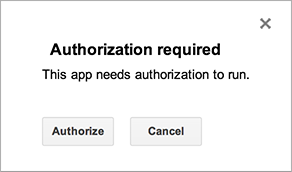 Authorization of Google Apps Script